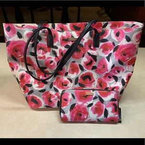 Kate Spade Cedar Street Maise Rose tote and wallet